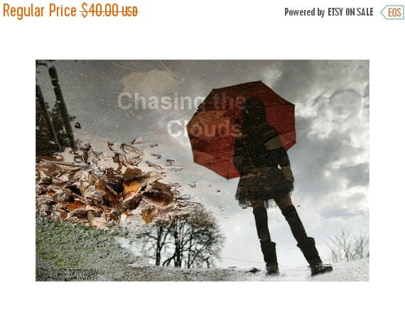 College Fund Sale In the Dead of Winter 8x12 Rain Puddle Reflection Silhouette Print by Karen Clarke Photography