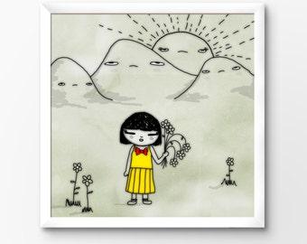 Kawaii Nursery Printable Art Print, Instant Download Illustration by Sleepy Cloud Studios