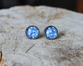 Petites merveilles etoile // earrings // fait au quebec   (BO-1223)