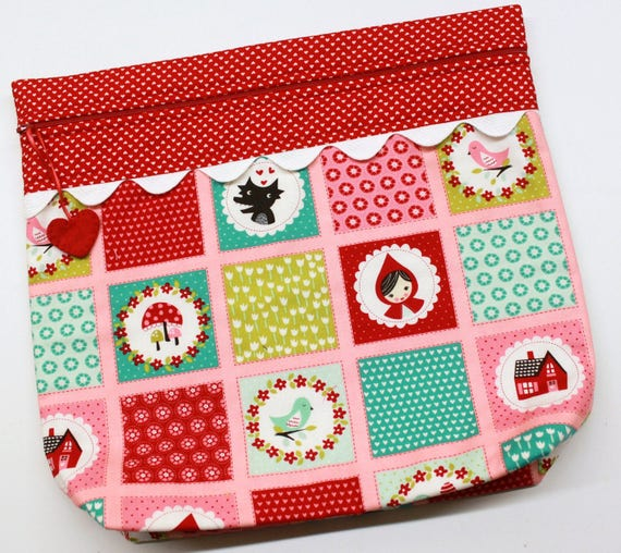 MORE2LUV Little Red Riding Hood Cross Stitch Embroidery Project Bag