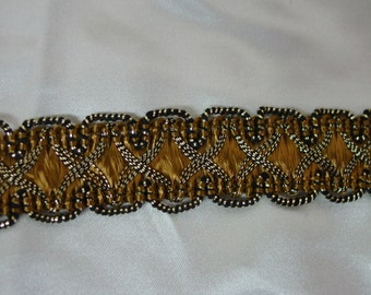 "Vintage Metallic Trim, 3/4"" Gold/Copper Color, Gorgeous 8 Yards Available"
