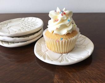 Cupcake Dish     ring dish - soap dish - jewelry dish - teabag holder - feminine - coaster - minimal - bridal - wedding -