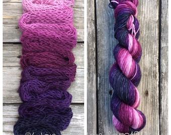 Gradient Dyed Yarn, Hand dyed yarn, Gradient yarn, Wool Yarn, DK Weight