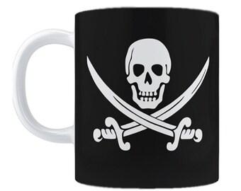 CALICO JACK Pirate Flag Coffee Mug, 11oz or 15oz
