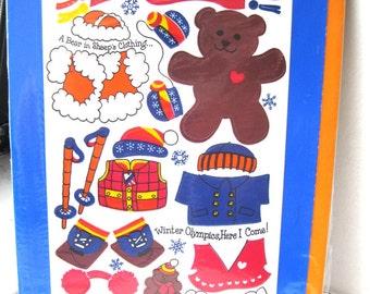 1983 Sandylion Birthday Card and Stickers NIP