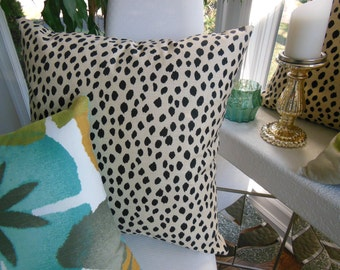 Leopard Designer Pillow - Animal Design Decorative Pillow - Brown Pillow - Spotted Pillow - Beige Leopard Pillow - You Select The Size
