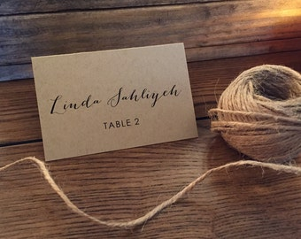Wedding Escort Cards, Wedding Place Cards, Bi-fold Table Tents Name Cards for your Weddings or Special Event, Rustic Wedding Name Cards