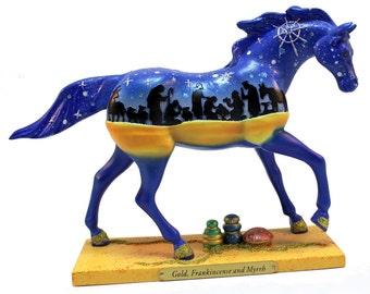 Painted Pony Figurine Gold, Frankincense and Myrrh 1st Edition 2010