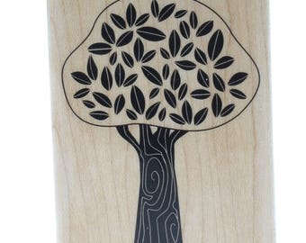 Hampton Art Terrific Whimsical Tree Wooden Rubber Stamp