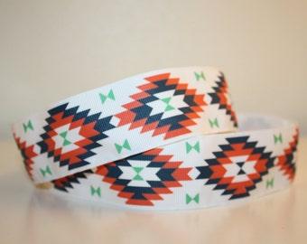 """White 'Warrior' Hankband - Non-Slip Headband - 1.5"""" Running/Workout Headband"""