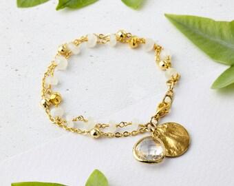 June Birthstone - Moonstone Bracelet, Moonstone Jewellery, Boho Jewellery, Friendship Bracelet, Birthstone Bracelet, Festival Jewellery