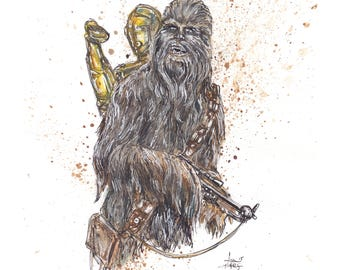 Chewbacca 11x14 Signed and Numbered Art Print