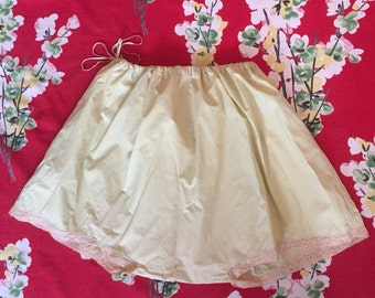 Vintage 1920s yellow french knickers 20s cotton bloomers L XL