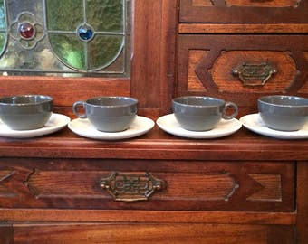 Russel Wright Iroquois 4 Cup & Saucer Sets