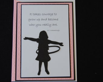 It Takes Courage... Quotable Note Card