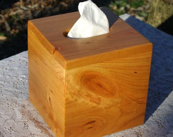 "The BlackWater TBC - Black Cherry Tissue Box Cover - ""Cube Style"""