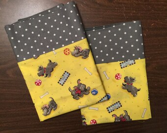 Pillow Case Set in an adorable Scottie dog pattern standard size available
