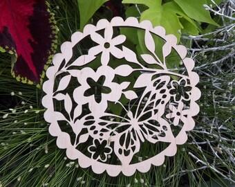 Wooden coaster. Floral coaster.Drink coasters. Cup coaster