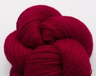 December Cranberry Silk Cashmere Fingering Weight Recycled Yarn