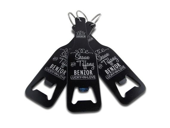 personalized bottle shaped bottle opener wedding favor. Black Bedroom Furniture Sets. Home Design Ideas