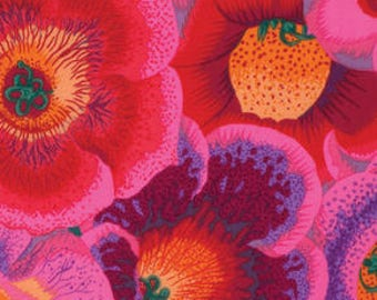 Gloxinias - PINK -  by Phillip Jacobs for Kaffe Fassett Collective - PER 25CM - PWPJ071  - 100% Cotton Quilt Fabric