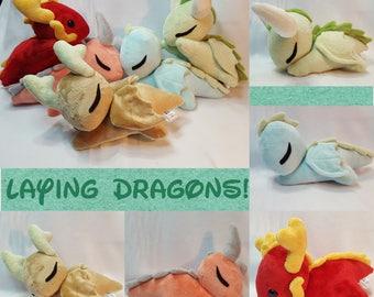 Laying Dragon Plush/Sleeping Dragon Babies
