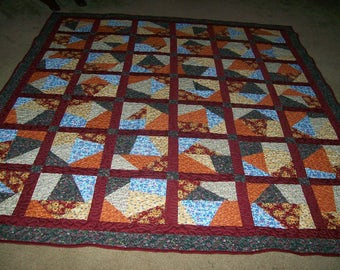 Full Size Multi Colored Crazy Quilt