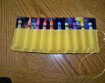 Jumbo Crayon Roll Up  10 count