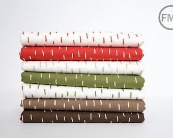 Half Yard Bundle Merrily Just a Dash, 7 Pieces, Gingiber, 100% Cotton, Moda Fabrics, 48214