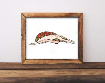 Yoga Turtle Studio decoration Print