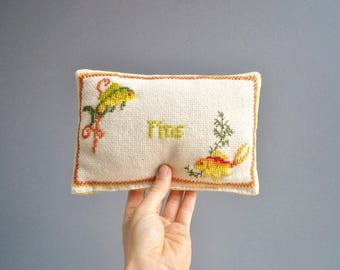 Vintage Needlepoint Pincushion