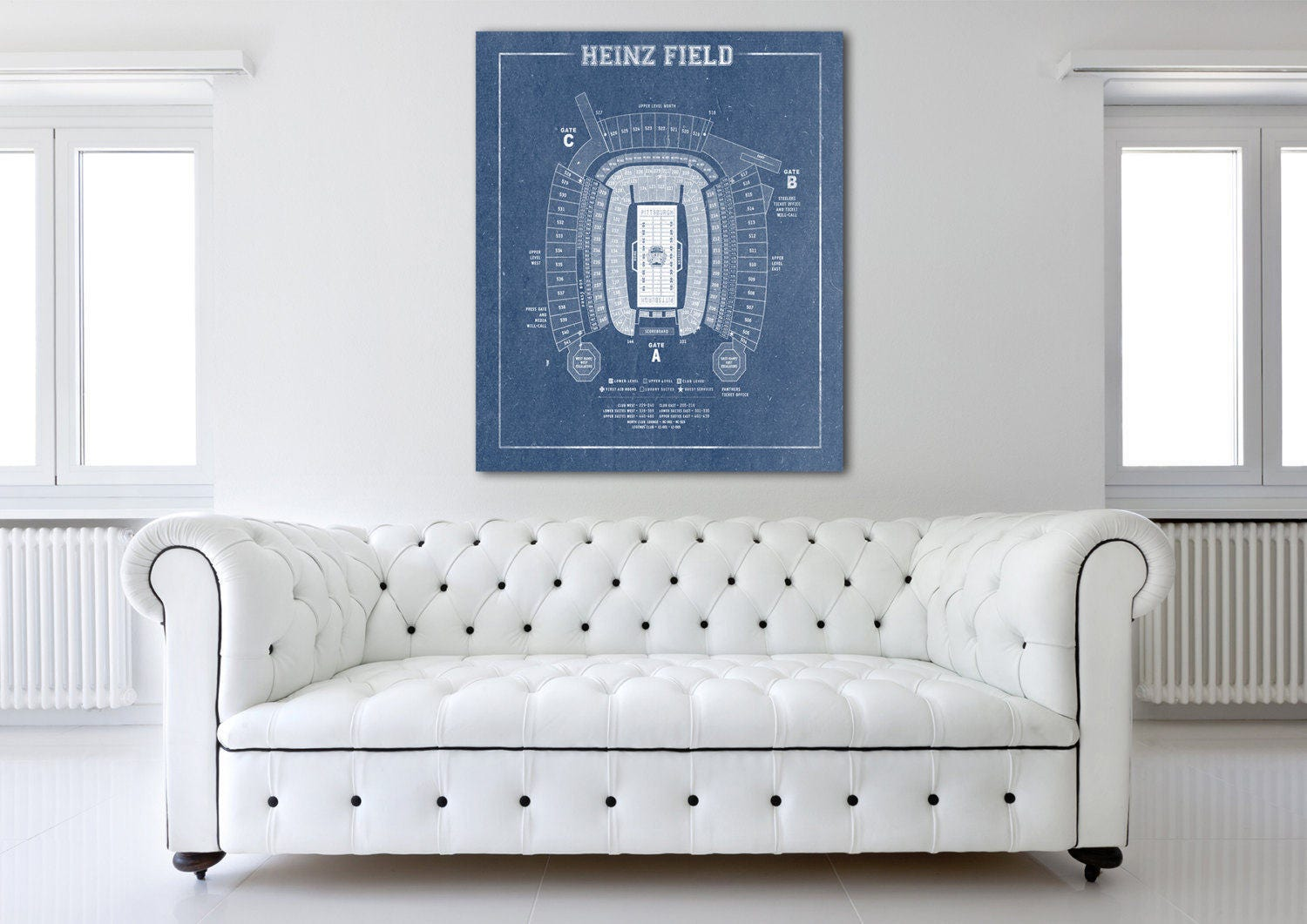 Print of vintage heinz field seating chart seating chart for 12x15 calculator