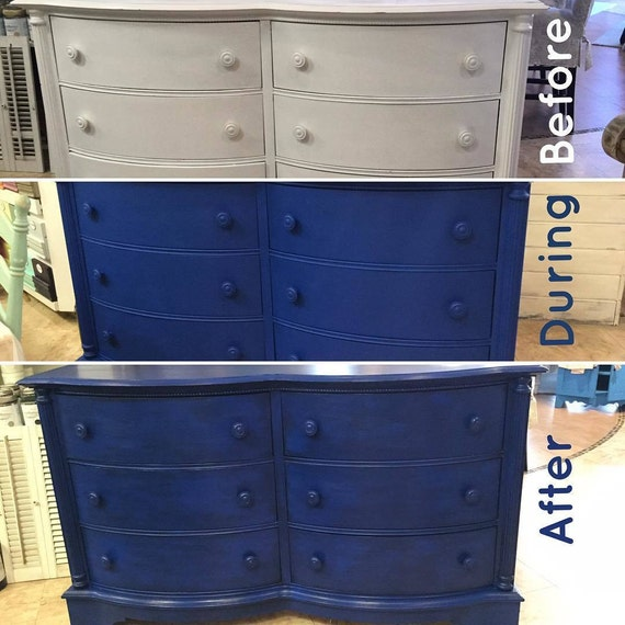 Chalk Paint Kitchen Cabinets Diy: Dixie Belle Cobalt Blue Mineral Chalk Paint DIY For