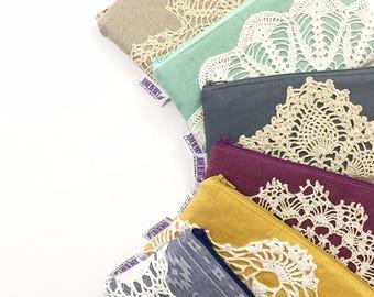 Women's Linen Wallet - Choose Your Own Fabrics