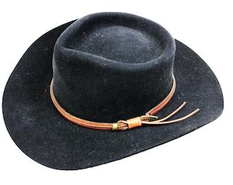 Australian Outback Collection Black Jackaroo Felt Hat