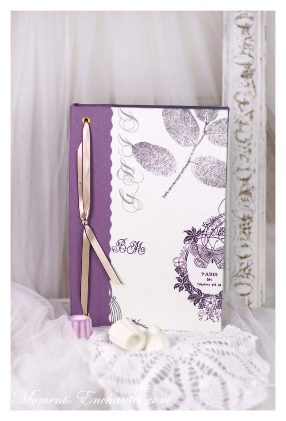 Saint Valentin Note book  vintage butterfly ornements