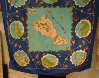 Vintage Souvenir Scarf from Italy