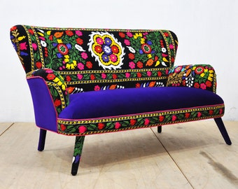 Suzani 2-seater sofa - deep purple
