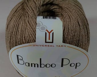 Bamboo Pop, Universal Yarn, Bamboo Yarn, Sand, Color 110 Lot 3784, Bamboo Cotton Yarn, Bamboo Blend, Cotton Blend, Knitting Yarn, Crochet