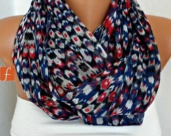 ON SALE --- Infinity Chiffon Scarf,Fall Scarf, Circle, Loop Scarf Gift Ideas For Her Women's Fashion Accessories Women Scarves