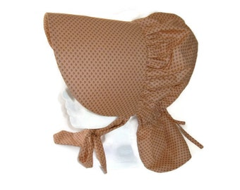 Girls' Sunbonnet - Pioneer Sunbonnet - Peach - Gift for Girls