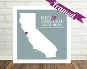 Husband Gift Personalized Home Art Gift for Husband Gift for Him Map Frame Map Print Map Poster Custom Map Gift Holiday Gift Valentine Gift