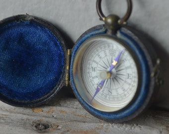 Small Antique Cased Compass