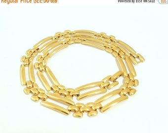 ON SALE Napier Linked Gold Tone Collar Necklace