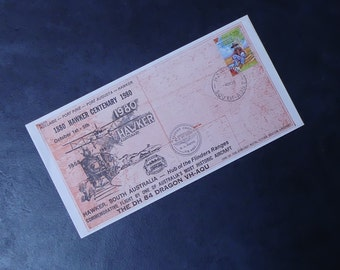 "Vintage Official Australia Post Commemorative Envelope ""Centenary of Hawker"" 1980"