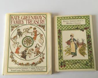Kate Greenaway's Family Treasury & Mother Goose Hardcover Books