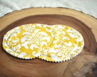 Washable Nursing Pads-Yellow and White