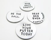 Personalized Hand Stamped Golf Ball Marker (qty 1) - Pocket Token - Men's Gift - Golfer -  Keepsake Token