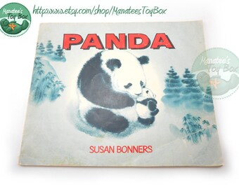 Vintage Panda Book by Susan Bonners Paperback with Cuddly Illustrations 1970s