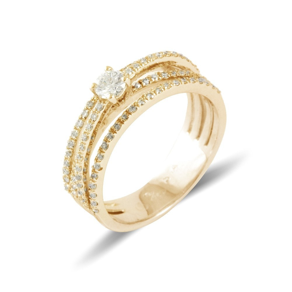 crossover engagement ring crossover ring yellow gold
